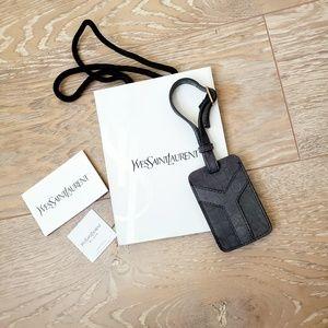 Yves Saint Laurent Crocodile Luggage Tag